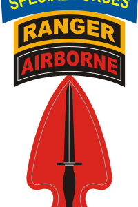 Special Operations Command with Airborne, Ranger and Special Forces Tab Decal