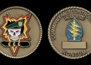 MACVSOG SOG Command and Control South CCS Challenge Coin