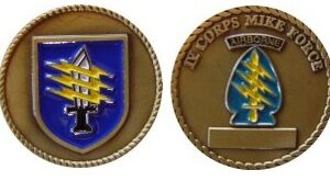 Special Forces Mike Force IV CORPS Challenge Coin with Knife and Lightening Bolts