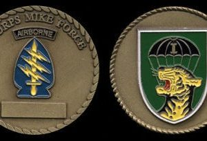 Special Forces Mike Force I CORPS Challenge Coin with Tiger