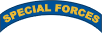 Special Forces Tab Decal