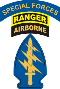 Special Forces SSI Patch with Ranger and Special Forces Tab Decal