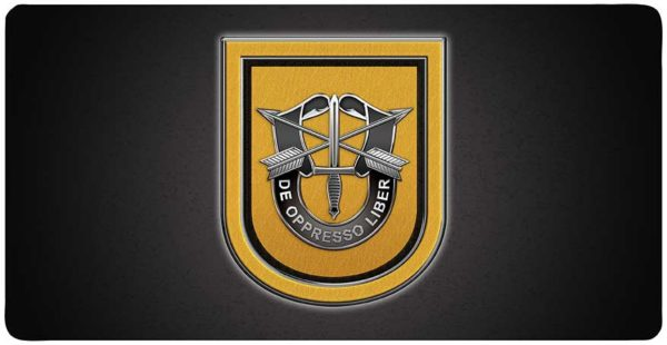 """1st Special Forces Group 12 x 6"""" all Metal License Plate with holes"""