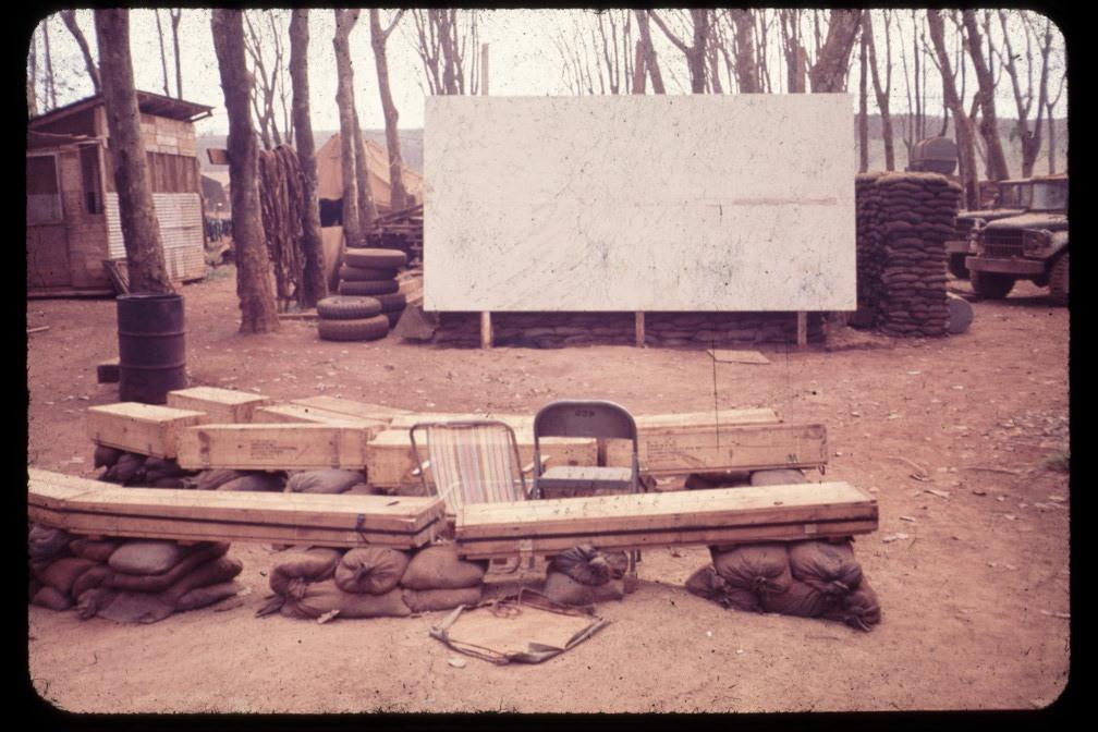 Movie theater at Quan Loi