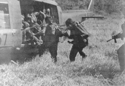 Wolcoff snapped this photo of RT New York being extracted from a Laos LZ