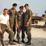 "Photo Apr 69, CCN, from left: Ron Podlaski, myself, Mark Gentry and Lynne M. Black Jr. By: John ""Tilt"" Meyer"