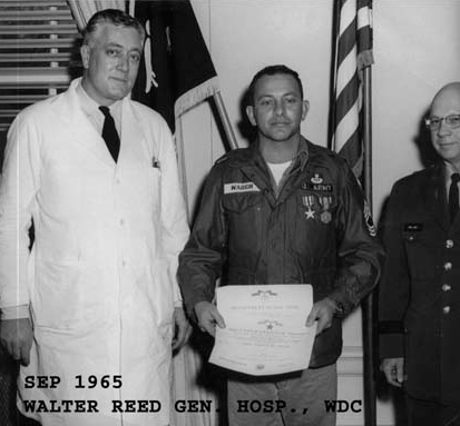 SGM Billy Waugh, Walter Reed Gen Hosp, Sep 1965 recovering from wounds and receiving awards.