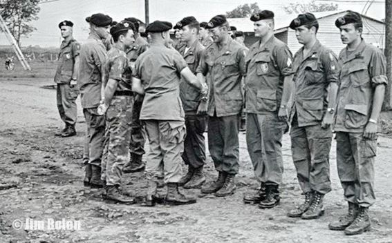 Jim at ceremony when he was given one of his awards in 1968 at Ban Me Thuot, FOB 5, Vietnam.