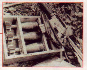 Boobytrapped mortar rounds