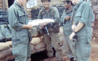 Members of RT Auger (L to R) Me, Nay Bunn, Mang Koah and Sgt Bari Knowles