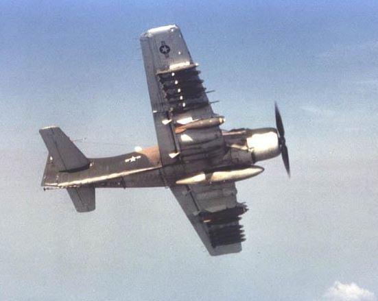 A heavily-armed Skyraider.