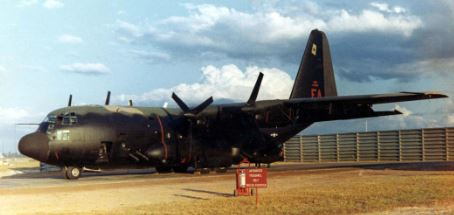 AC-130A on the ground in Ubon AFB, Thailand (USAF).