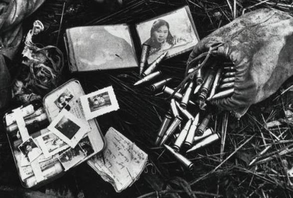 Detail of dead NVA's possessions, 1968 (Don McCullin)