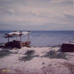 Bunker on beach Paradise island