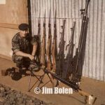 Jim Bolen with some of the weapons haul