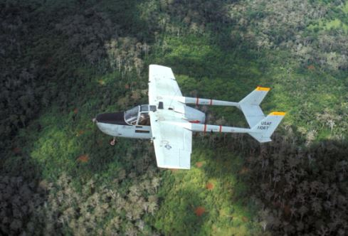 FAC flying over the jungle