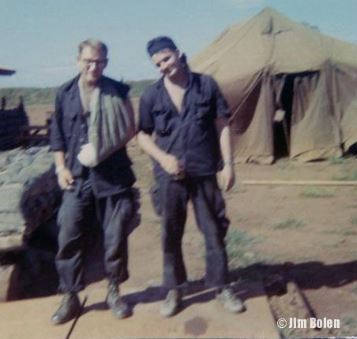 Lt. Kroske and me the following morning. Lt. Kroske was truly an elite and brave soldier who went MIA (Missing in Action) in February, 1969, and was declared KIA (Killed in Action) at a later date.