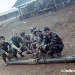 Mang Hai, Me, Nay Bunn (my interpreter), unknown, Mang Kaoh (my point man), unknown. RT AUGER 23