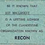 Sgt McCloskey Lifetime Member of RECON