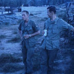 Right before I left (31 Oct as I recall), there was a real party behind the RT barracks next to the bunkers. Some serious imbibing was the order of the day. Here Don (Dave) Davidson ... later (I heard) a SGM. Again not/NOT one of the Bull Shiters.