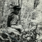 This murkey photo is of me on my first mission at FOB-2 with RT Delaware 1-0 SSG Dahling looking for a NVA unit which ambushed an American convoy between Kontum and Pleiku. Dahling hated that hat.