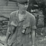 SSG Luk Dove, my replacement as 1-0 Delaware, taken just after his return from a shake-down mission with RT Illinois in October 1968. Shortly after this photo he took over as 1-0 of Delaware. Note the RT Delaware patch I designed on his pocket. Only 20 were made.