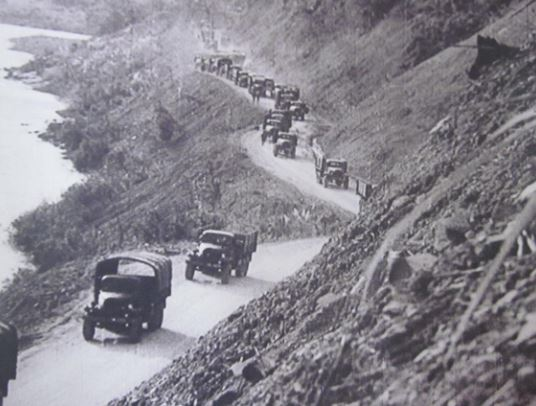 Truck traffic increased along the Ho Chi Minh Trail in Laos when the bombing of North Vietnam was halted.
