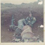 David Carr waiting just off runway at Khe Sanh 14 April 1968