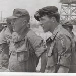 David Carr with Gen Don Blackburn on the helo pad at CCN Feb 1970