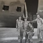 "Nha Trang AB, Vietnam 1968, getting ready for a Spooky 61 Frag! L to R: SGT John Shaver, Gunner, TSgt Thomas ""TK"" Davis, Loadmaster, TSgt Robert Hardin, Flight Engineer, TSgt Bruce Maine, Gunner."
