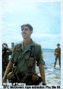 SFC McGovern Phu Bia in 1968 of rope extraction