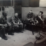 Picture taken at meeting in Long Hai. Left to right, Lieutenant Colonel James Ruhlin, Lieutenant Colonel Campbell, Fifth Group Commander Colonel Aaron & LLDB General!