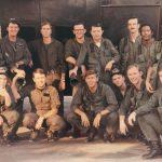 "AC-130A SPECTRE GUN CREW 14 Ubon, Thailand 1972-1973 Front Row: L to R ""Tex"" (Gun), Captain Bill (A/C), LT..... (Co-Pilot), Troxel (Gun) Major..... (Sensor), Caler (Gun) Back Row: FE, Capt.....(Sensor), ""Trailblazer"" (Gun), Capt.....(TV), Major......(Table Nav), Maine (Gun) ....(IO), LT.....(BC)"