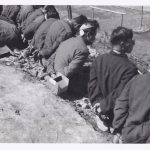 Paul Christensen 8240th POW Tied up Barbwire