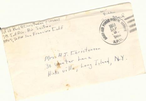 Paul Christensen 8240th UNPIK Letter home