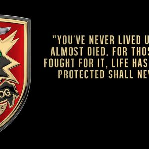 """Military Assistance Command, Vietnam – Studies and Observations Group SOG """"You have never lived"""" All Metal Sign 18 x 9"""""""
