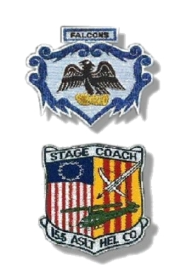 """155th Assault Helicopter Company (AHC) """"Stagecoach & Falcons"""""""