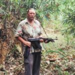 Cambodia in 2002, when I went back and hiked with 6 Cambodian Rangers to the Cobra 84 crash site... We hiked 100 miles each way... a total of 23 days...