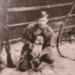 This is Susie my dog while I was in DaNang, Vietnam... While with the Navy... I used to climb the mooring line 20 feet every day, you see it next to me...