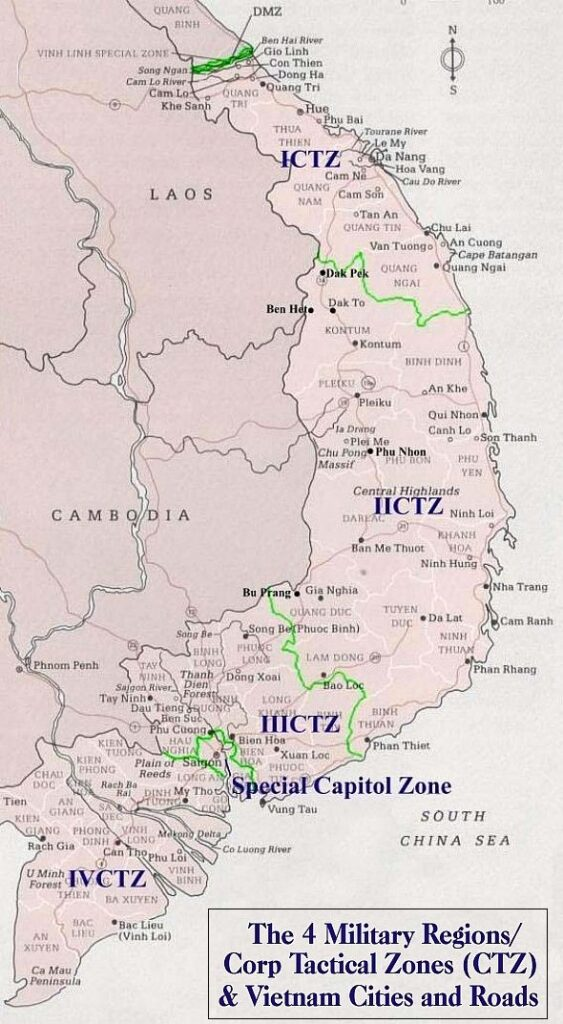 Four Military Regions/Corp Tactical Zones